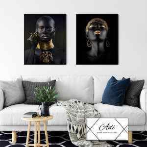 מיוחדות בזהב – זוג תמונות לסלון