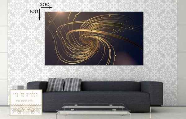 תמונת אבסטרקט רקע כהה זהב עיגולים