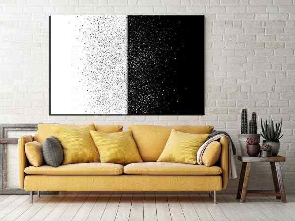 תמונה אבסטרקט שחור לבן נקודות