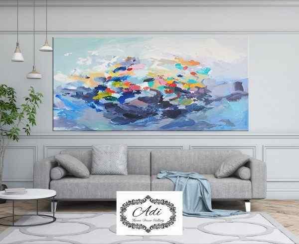 תמונת אבסטרקט צבעונית אומנותית נגיעות צבע