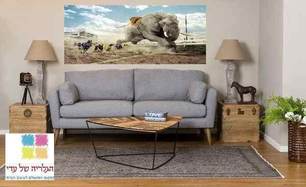 תמונת נוף מירוץ פיל כלבים