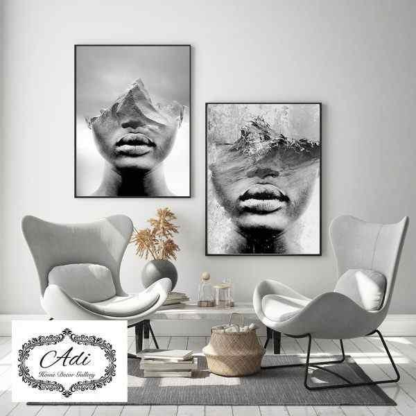 זוג תמונות נשים שחור לבן