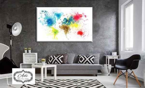 תמונה רקע לבן צבעונית מפת עולם