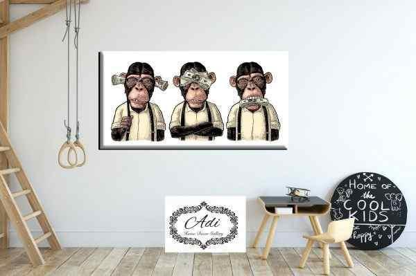 תמונה של שלושת הקופים רקע בהיר