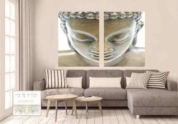 זוג תמונות בודהה ב2 חלקים פנים אומנותיות מיוחד