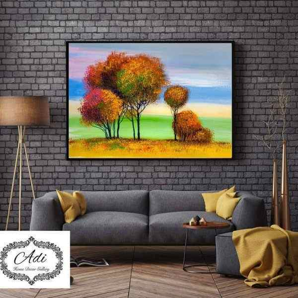 תמונת נוף עצים מרשימים צבעונית