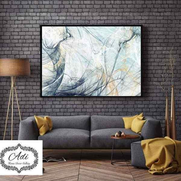 תמונת אבסטרקט קווים דקים רקע בהיר כחול טורכיז חרדל