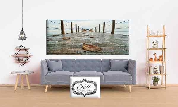 תמונת נוף גשר עלי שלכת מים חוף
