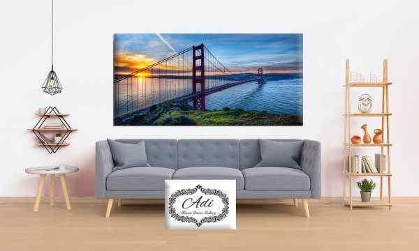 תמונת נוף מעוצבת גשר זריחה מים ים חוף