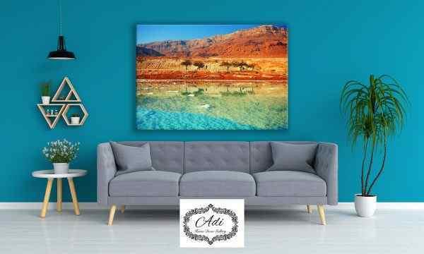 תמונה של ים המלח חוף שקיעה