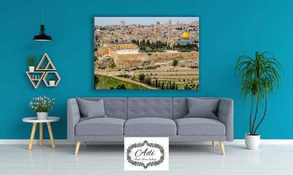 תמונה של ירושלים כותל הר הבית