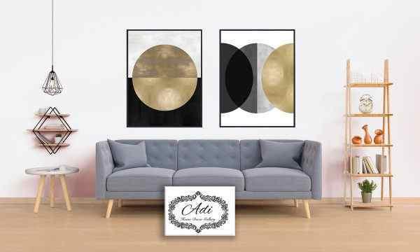 תמונה של אבסטרקט עם זהב שחור לבן