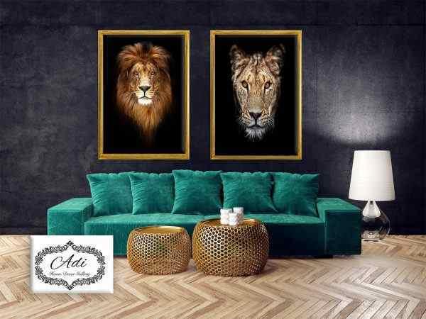תמונה של אריה ולביאה