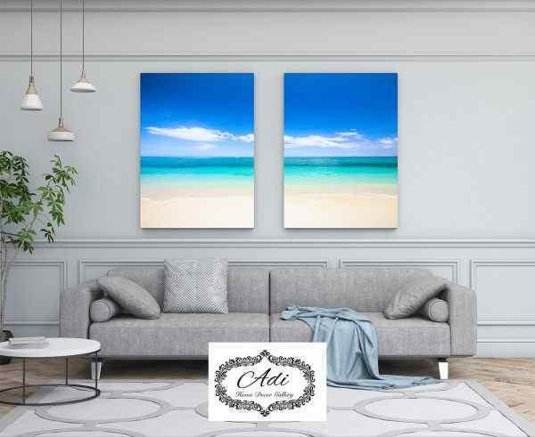 תמונה של חוף נוף ים מחולק