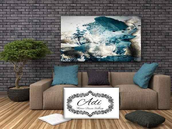 תמונה של אבסטרקט כחול אפור