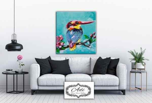 תמונה של ציפור אומנותי צבעוני
