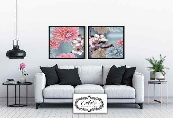 תמונה של פרחים אביב תלת מימד