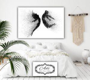 תמונה של זוג אנשים רומנטית לחדר שינה