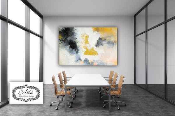 תמונה של אבסטרקט צהוב אפור