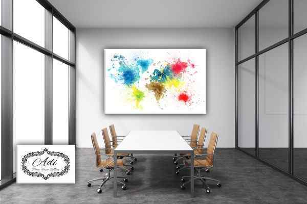 תמונה של מפת עולם צבעונית