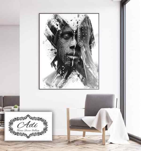 תמונה של אינדיאני שחור לבן