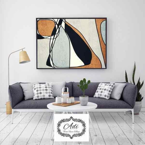 תמונת אבסטרקט של ציור בצבעים חום שחור