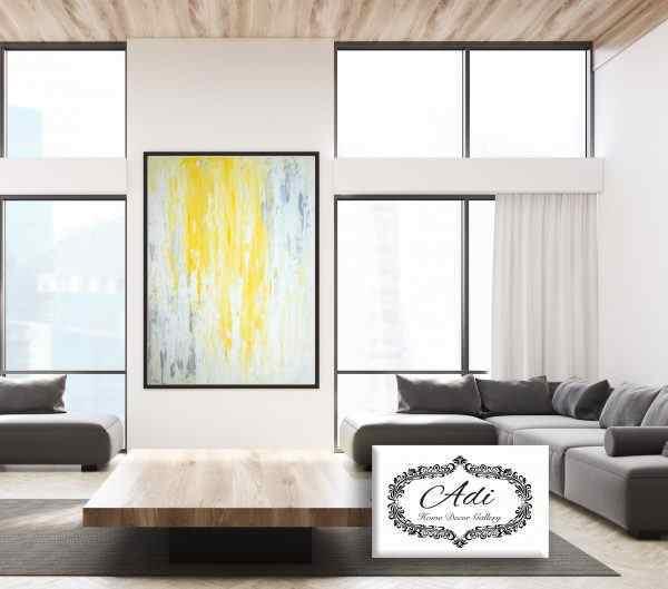 תמונת אבסטרקט בצבע צהוב אפור