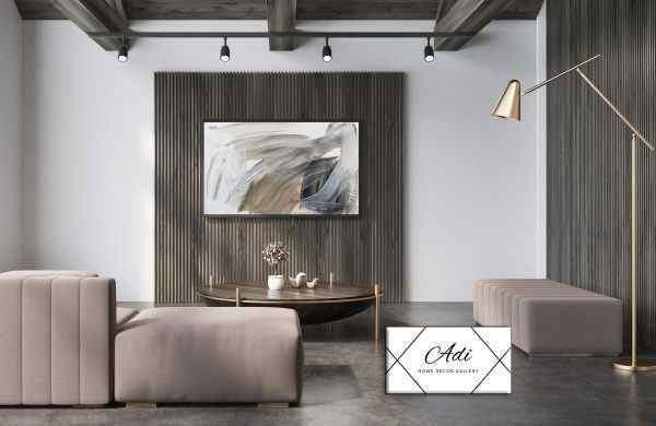 תמונה של אבסטרקט מריחות צבע לסלון