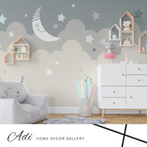 """טפט """"חלומות ועננים """" לחדר ילדים  רוחב  גליל 130 ס""""מ"""