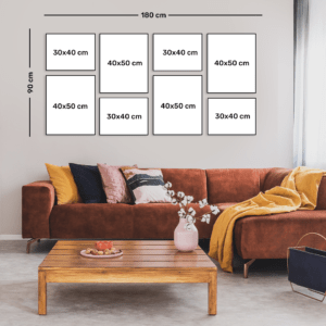"""סט קיר משפחה דגם """"בר"""" – 8 תמונות"""