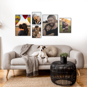 """סט קיר משפחה דגם """"שקד"""" – 5 תמונות"""