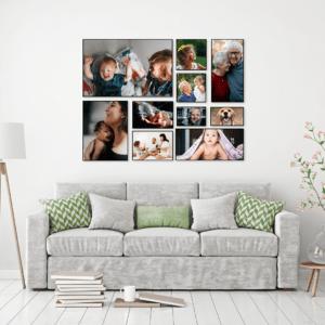 """סט קיר משפחה דגם """"גפן"""" – 10 תמונות"""